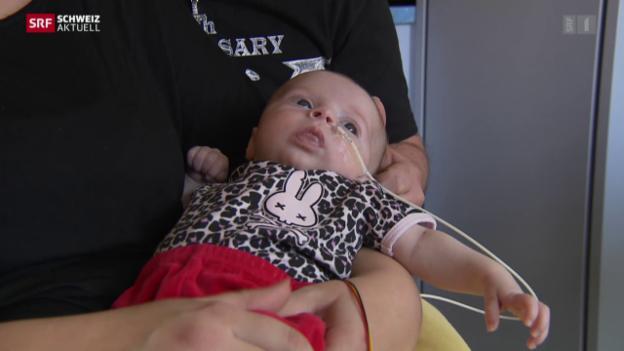 Video «Herztransplantation bei Baby» abspielen