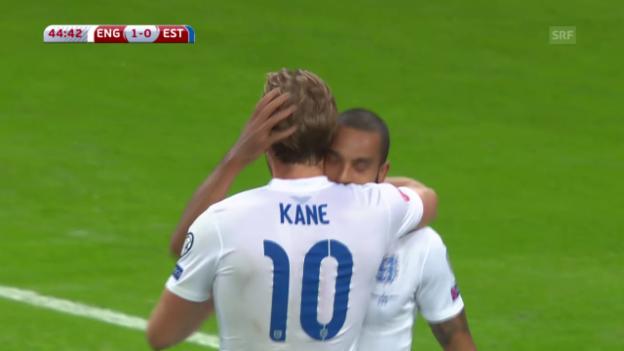 Video «Fussball: EURO-Quali, Zusammenfassung England - Estland» abspielen