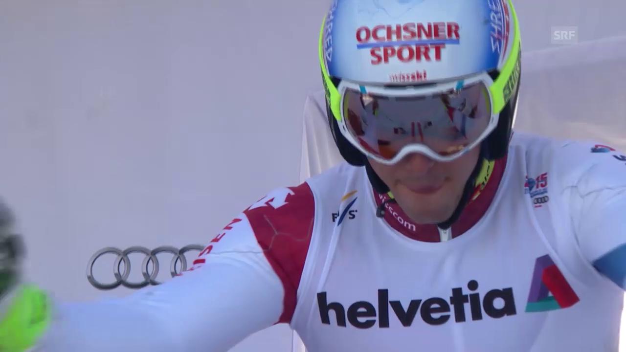 Ski: WM Vail/Beaver Creek 2015, Riesenslalom Männer, der 1. Lauf von Carlo Janka