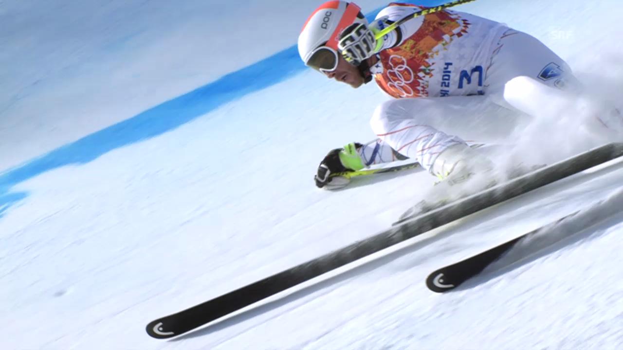Ski, Super-G, Fahrt von Bode Miller (sotschi direkt, 16.02.14)
