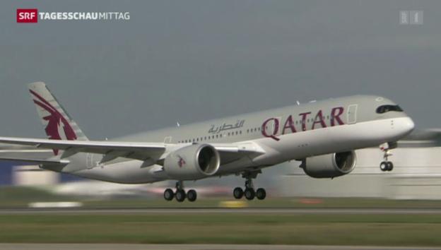 Video «A350 wird an Katar ausgeliefert» abspielen