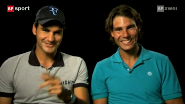 Lachen mit Federer und Nadal