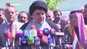 Video «Schiiten-Führer Al-Sadr gewinnt Wahlen» abspielen