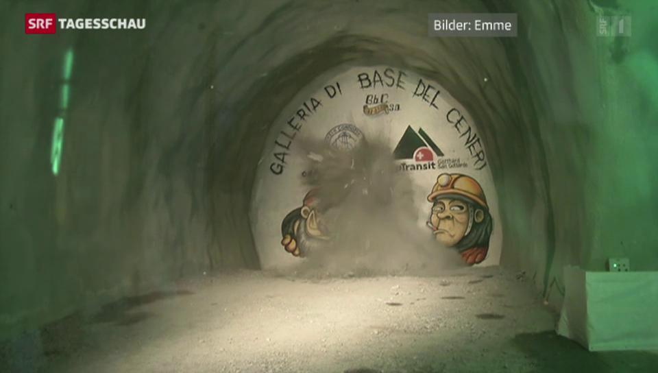 Erster Durchschlag im Ceneri-Basis-Tunnel