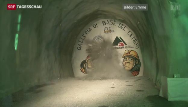 Video «Erster Durchschlag im Ceneri-Basis-Tunnel» abspielen