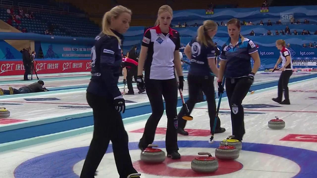 Sieg und Niederlage für die Curlerinnen