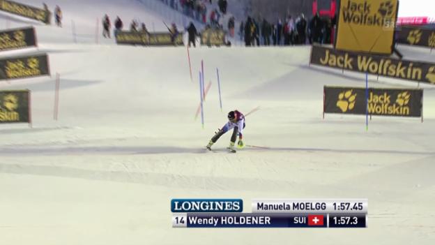Video «Ski: Der 2. Lauf von Wendy Holdener in Levi» abspielen