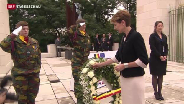 Video «Gedenkfeier in Lüttich» abspielen