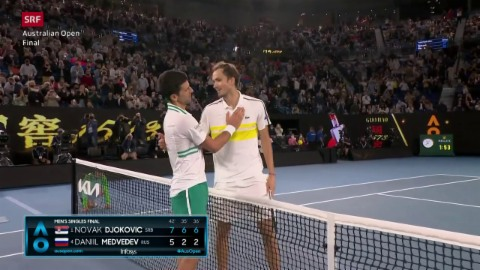 Highlights bei Djokovic vs. Medwedew