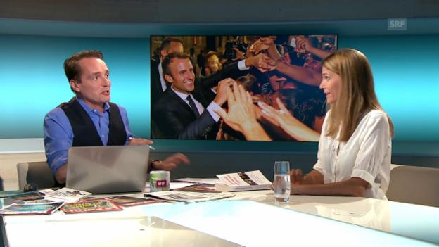 Video «Emmanuel Macron, eine Art «Messias»?» abspielen