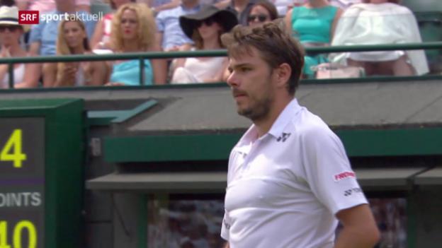 Video «Tennis: Wimbledon, Wawrinka - Verdasco» abspielen
