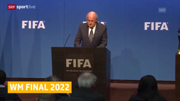 Video «Fussball: WM 2022 in Katar, der Termin steht fest» abspielen