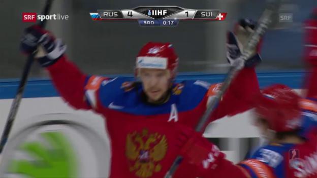 Video «Live-Highlights Russland - Schweiz» abspielen