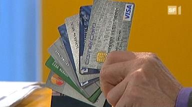 Video «Kreditkarten-Test: Mit der richtigen Karte sparen» abspielen