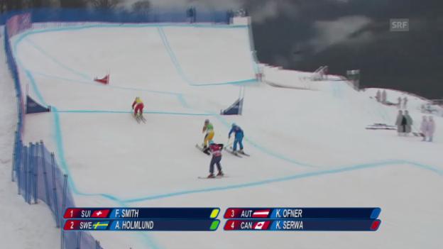 Video «Skicross: Halbfinal mit Fanny Smith (sotschi direkt, 21.2.2014)» abspielen