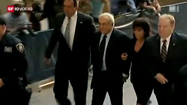 Schmährufe für Strauss-Kahn in New York