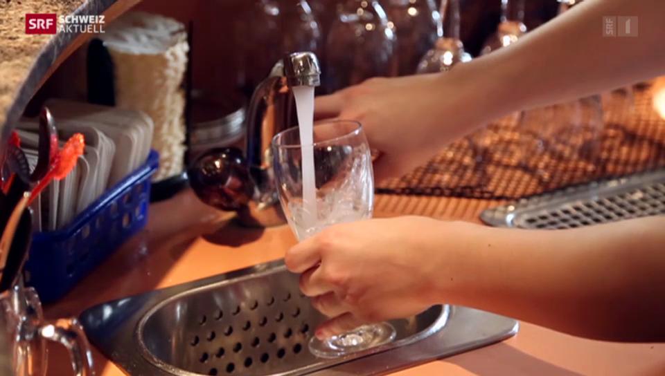 Umstrittenes Hahnenwasser in Restaurants