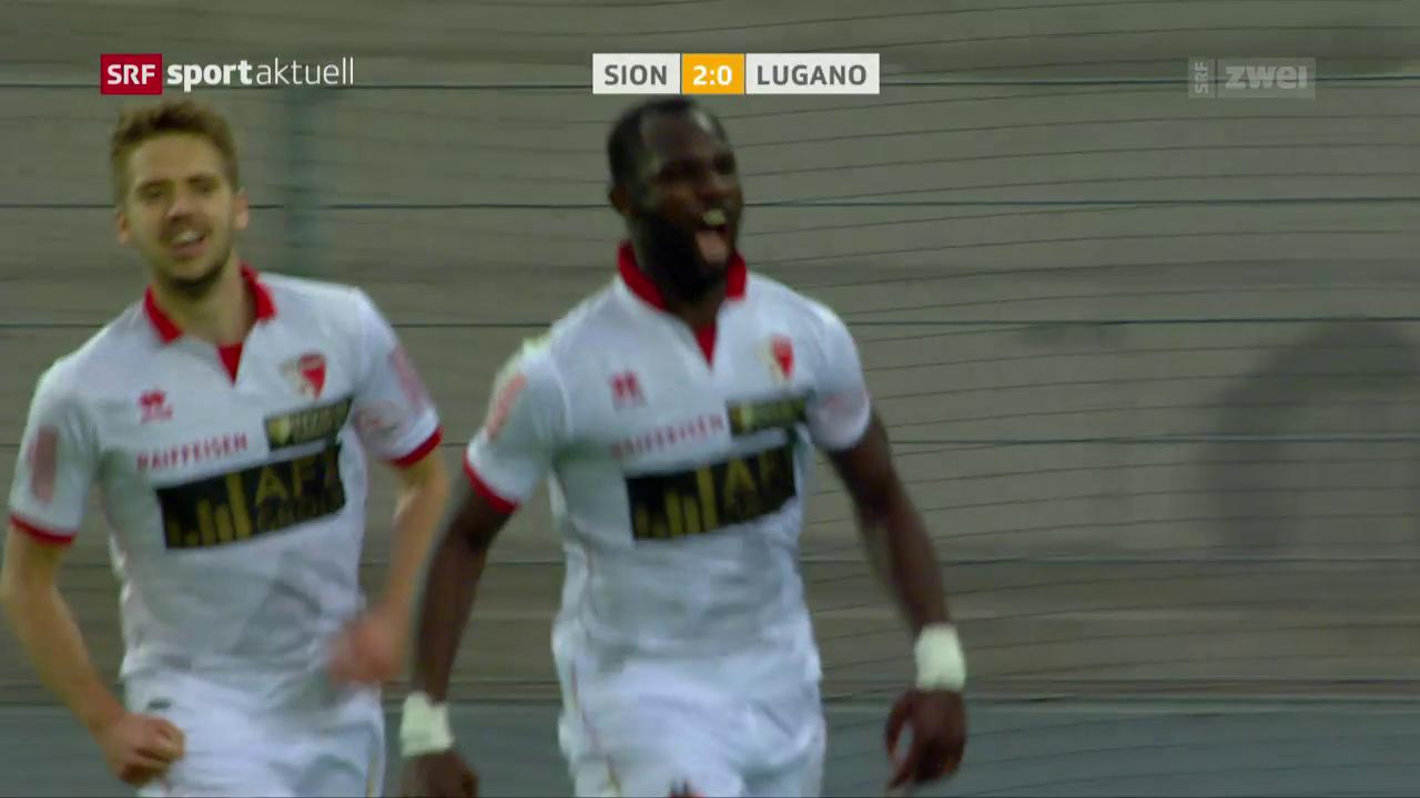 Der FC Sion kann Luganos Lauf stoppen