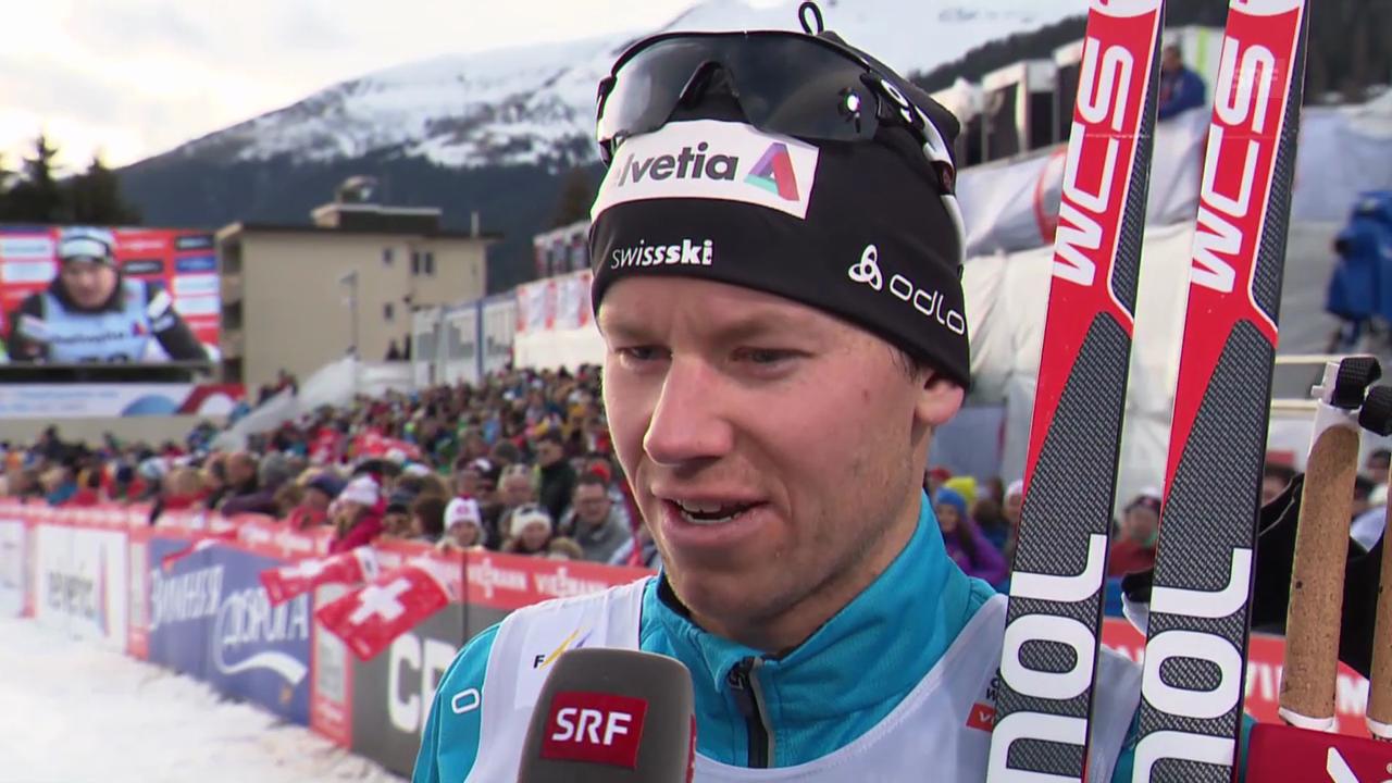 Langlauf: 15 km klassisch Davos, Interview Livers
