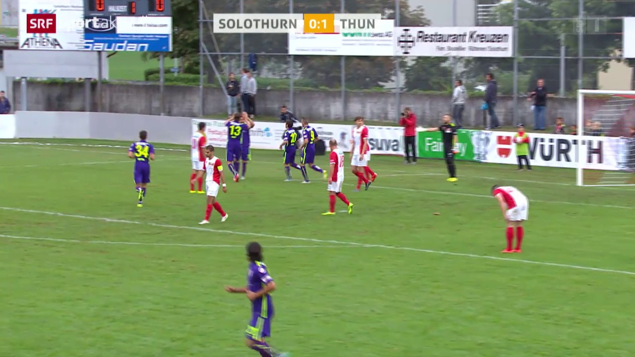 Fussball: Cup, Solothurn - Thun