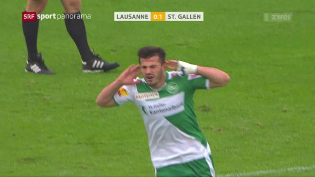 Video «St. Gallen feiert Contini-Einstand mit Sieg» abspielen