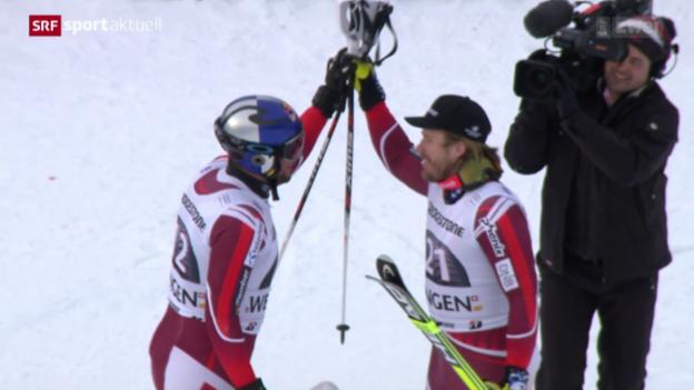 Video «Ski alpin: Super-Kombi der Männer in Wengen» abspielen
