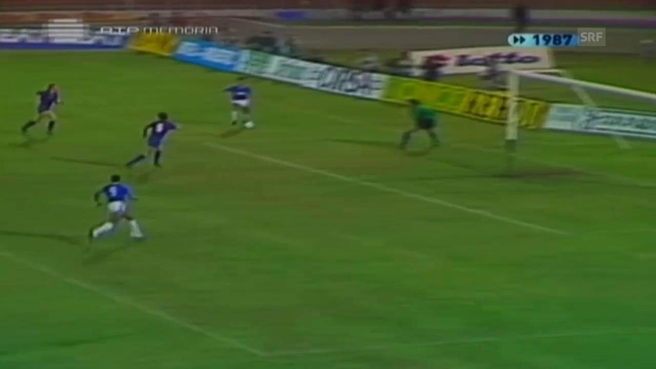 Fussball: Europa League, Beleneses - Barcelona 1987