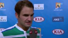 Video «Federer über Gegner Dolgopolow» abspielen