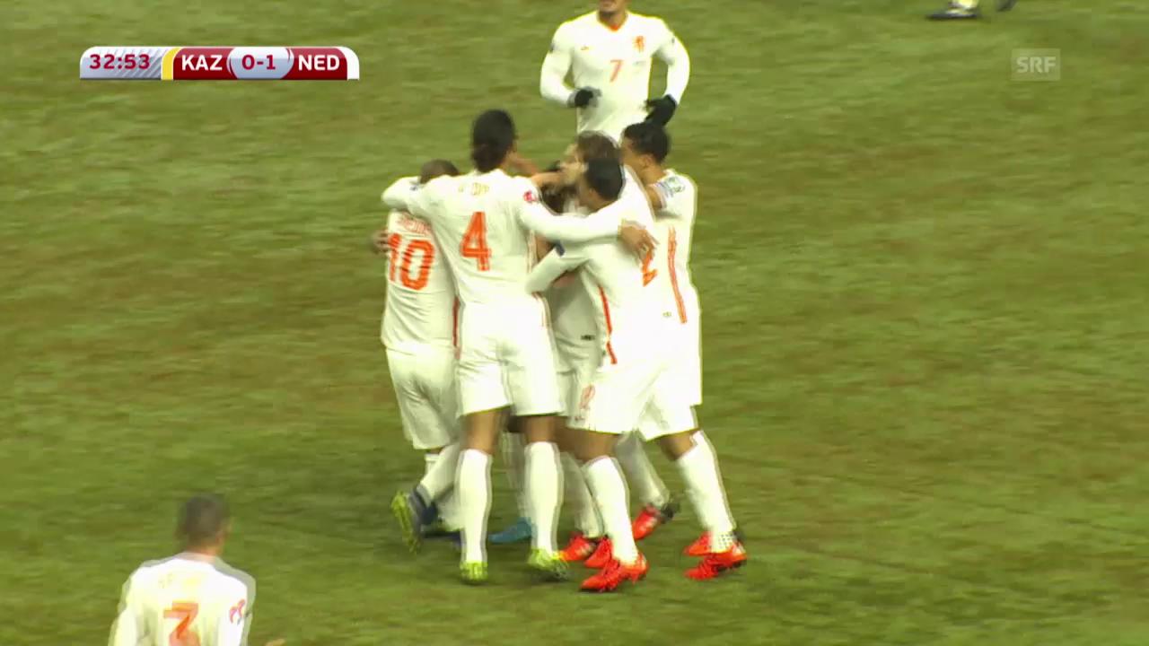 Fussball: EURO-Quali, Zusammenfassung Holland - Kasachstan
