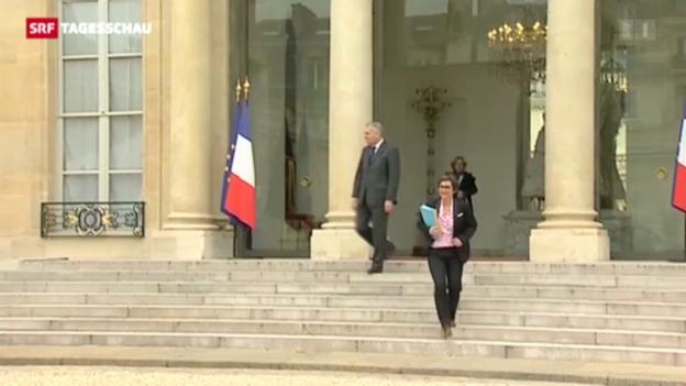 Video «Hollande packt Arbeitsmarkt-Reform an» abspielen
