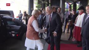 Video «Indischer Premier Narendra Modi zu Besuch» abspielen