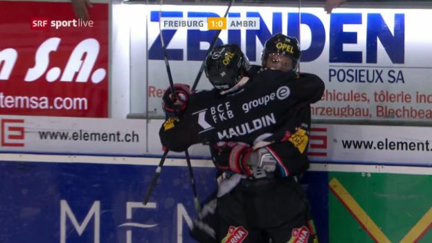 Video «Freiburg schlägt Ambri knapp» abspielen