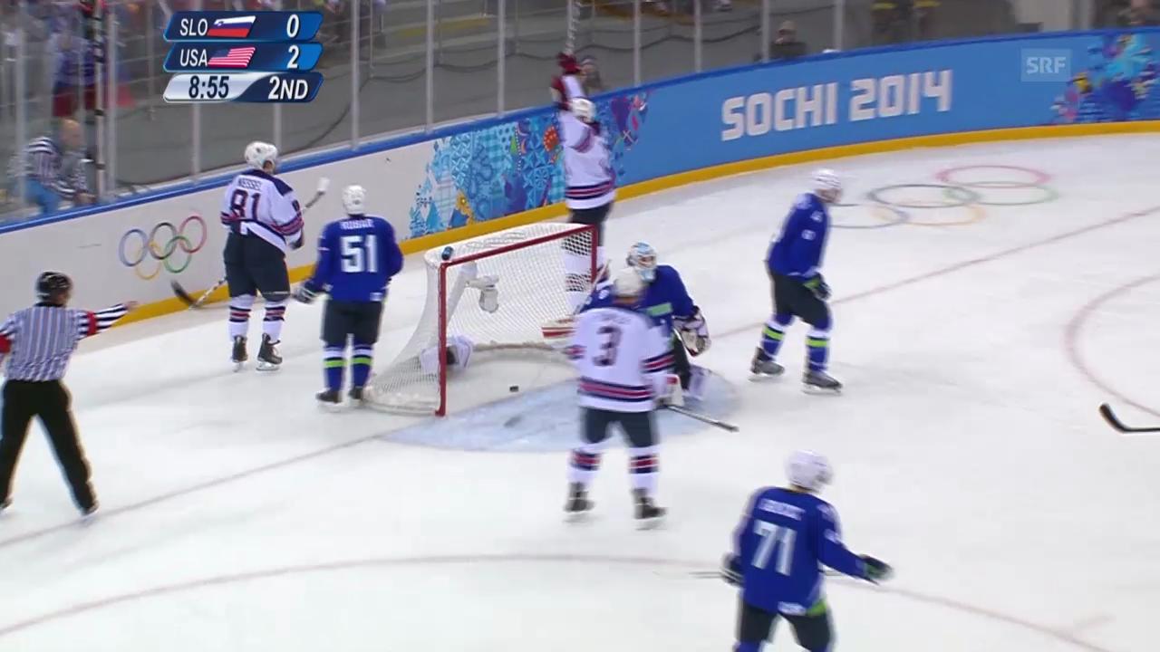Eishockey: Slowenien - USA, Tore (sotschi direkt, 16.02.2014)