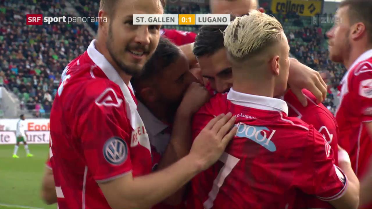 Lugano mit Auswärtssieg gegen schwaches St. Gallen