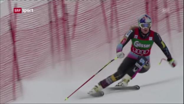 Video «Ski: Weltcup Frauen, 1. Abfahrtstraining St. Anton» abspielen