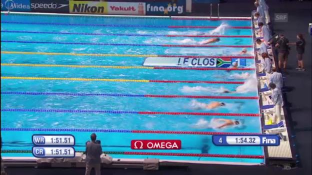 Video «Le Clos' WM-Titel über 200 m Delfin in Barcelona» abspielen