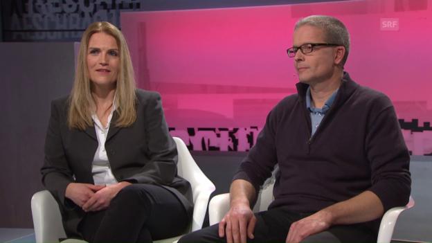 Video «Zu Gast bei Aeschbacher: Claudia Steiger & Christof Zimmerli» abspielen