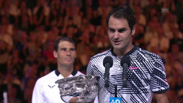 Video «Die Siegesrede von Federer» abspielen