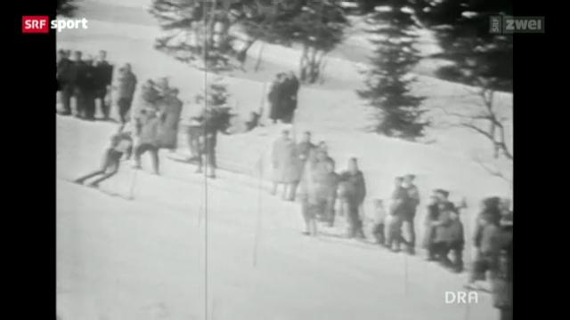 Eberhard Riedel als DDR-Skifahrer in Adelboden