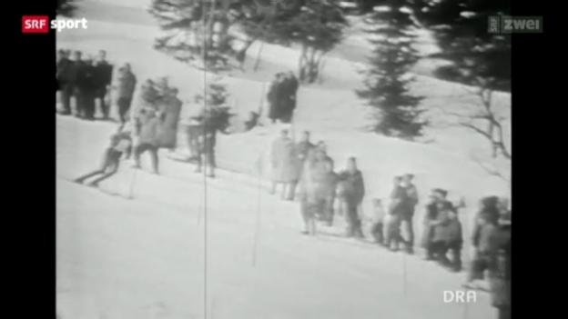 Video «Eberhard Riedel als DDR-Skifahrer in Adelboden» abspielen