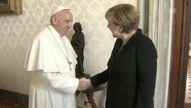 Video «Merkel beim Papst (unkommentiert)» abspielen