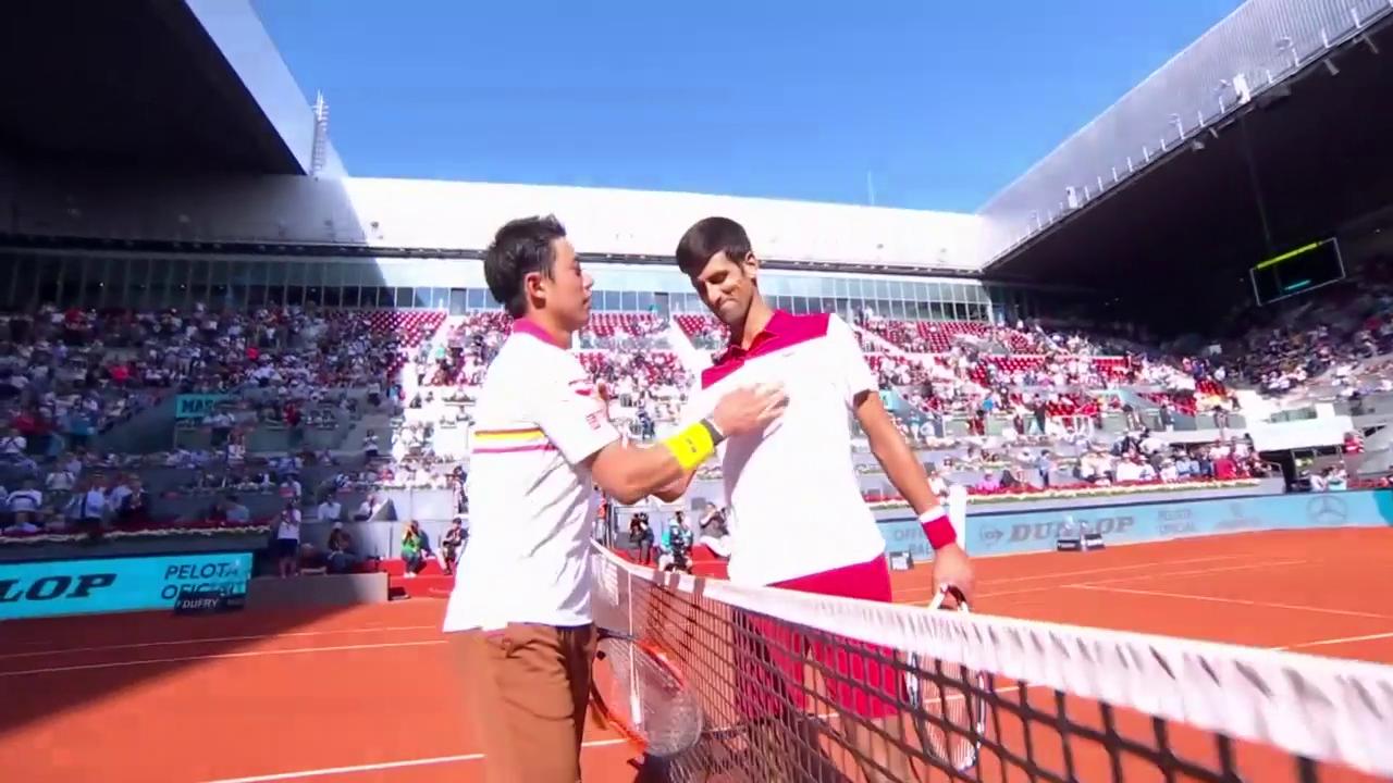 Einige Punkte bei Djokovic - Nishikori