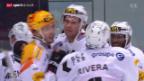 Video «Jubilar Gardner schiesst Freiburg in Kloten zum Sieg» abspielen