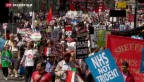 Video «Unmut gegen Sparpolitik in Grossbritannien» abspielen