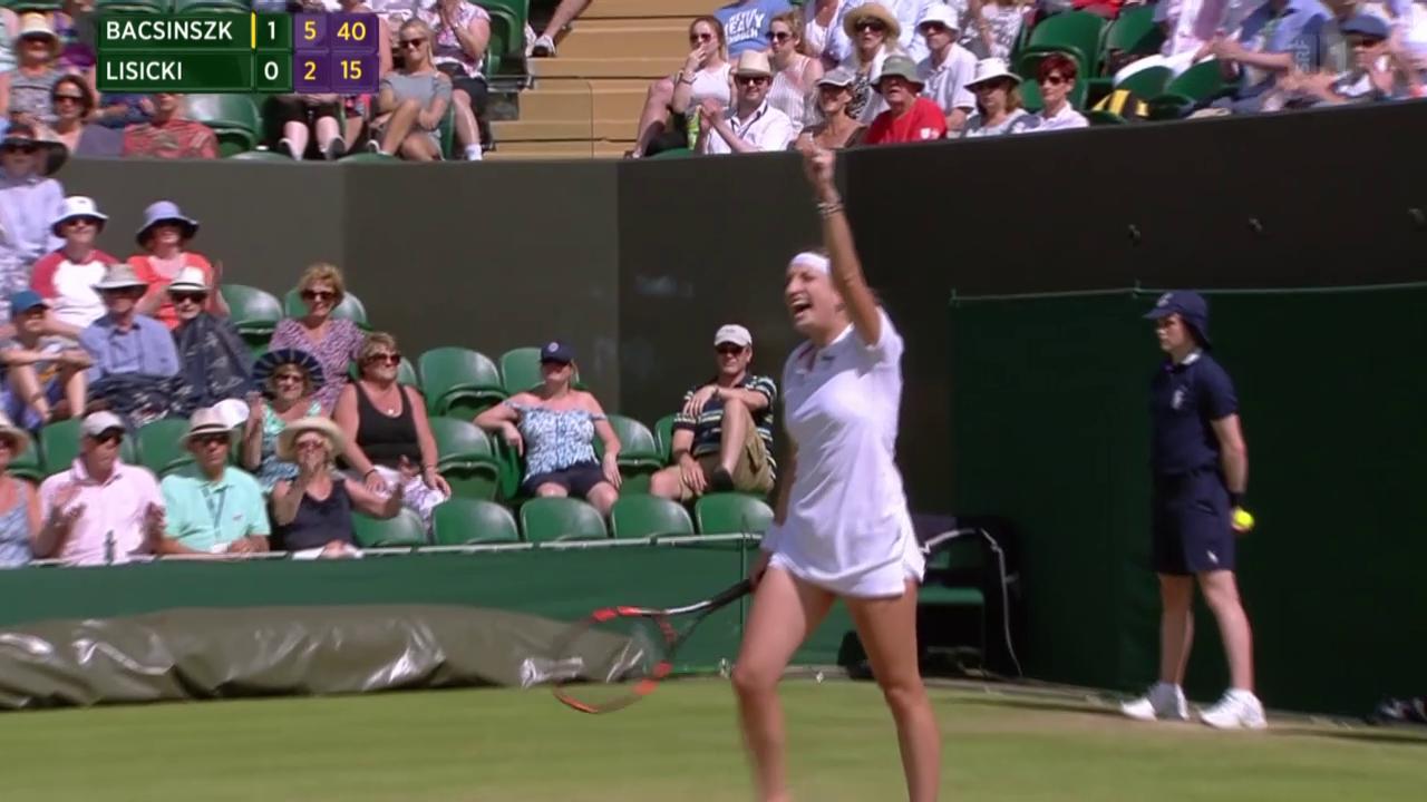 Tennis: Wimbledon, Bacsinszky - Lisicki