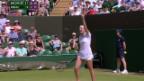 Video «Tennis: Wimbledon, Bacsinszky - Lisicki» abspielen
