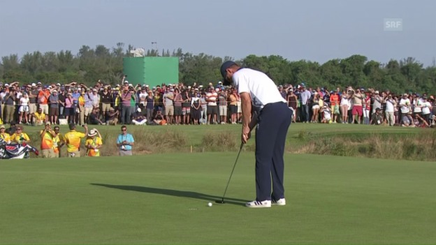 Video «Justin Rose gewinnt Golf-Showdown» abspielen