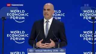 Video «Start der 48. Ausgabe des WEF» abspielen