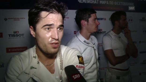 Video «Fechten: WM, Team Degen Männer, Interviews» abspielen