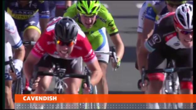 Video «Rad: Vierter Giro-Etappensieg für Cavendish» abspielen